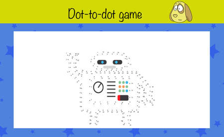 Puzzle game for children. Draw dot-to-dot. Preschool worksheet activity for kids. Education game, iq test, brain training