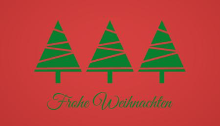 weihnachten: Frohe Weihnachten Karte Stock Photo