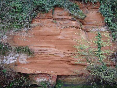 sedimentary sandstone Stock Photo