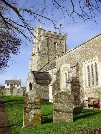 Aldea Iglesia Foto de archivo