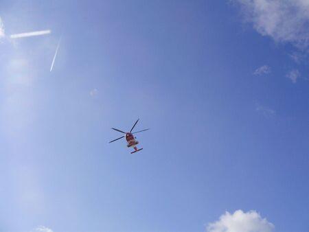 coastguard: red and white Stock Photo