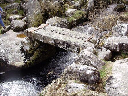 granite bridge Stock Photo