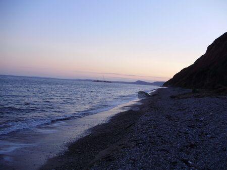puesta de sol Foto de archivo