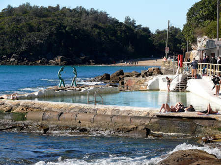 A view of a rock pool near Shelly Beach in Sydney
