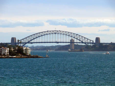 A view of Sydney Harbour from Rose Bay Stock Photo