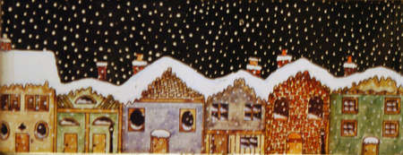 gingerbread: christmas gingerbread village