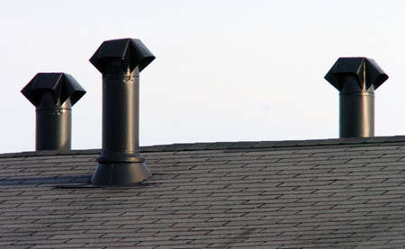 stove pipe roof chimneys
