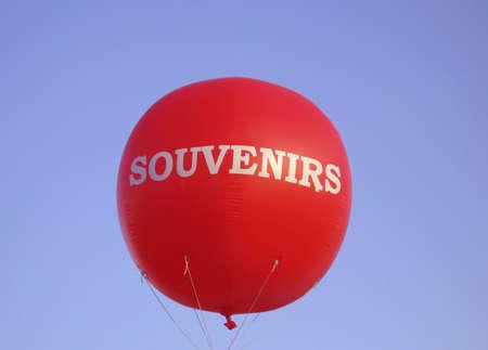 giant red souvenir ballon Stock Photo
