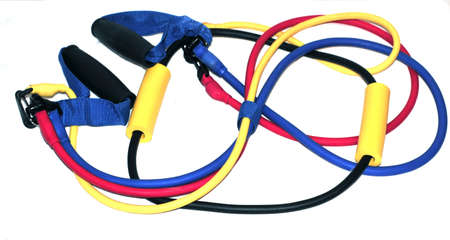 elastic rubber excercise bands photo
