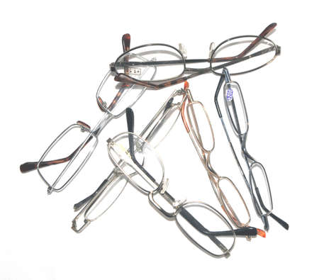 near sighted: pairs of glasses Stock Photo