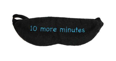 sleep mask: 10 more minutes sleep mask