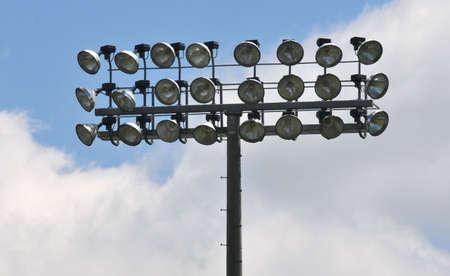 tier: three tier bank of stadium lights