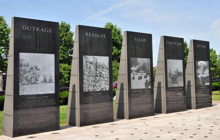 polished: polished granite war memorial