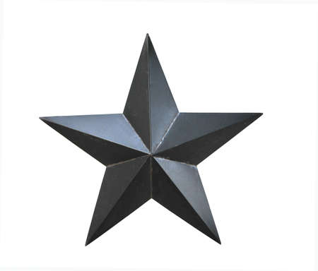 black star on a white background Stock Photo