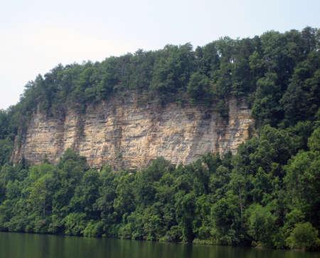bluff: river bluff cliff