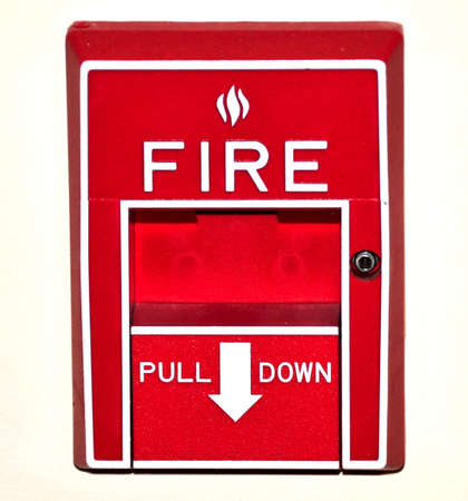 pull down fire alarm Stock Photo