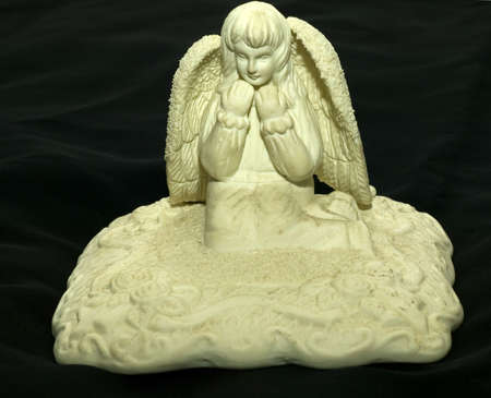 wahite angel statue Stock Photo