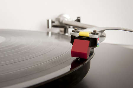 Analogue record player arm in close-up. Stock Photo - 12420595