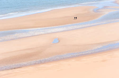 Pristine beach on the Scottish east coast.