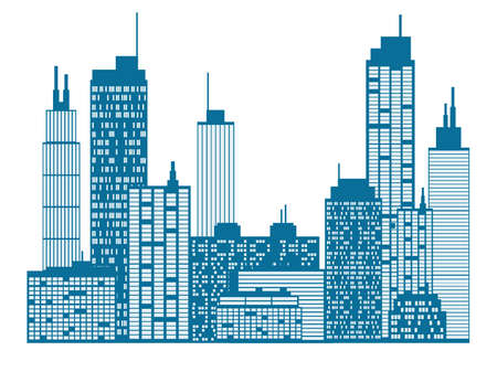 new york city times square: City skyline Illustration