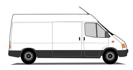 Entrega coche Ilustración de vector