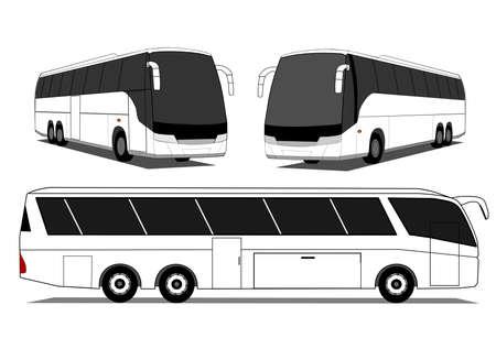 Autocarros Ilustração