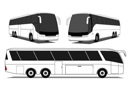 motor coach: Coach bus Illustration