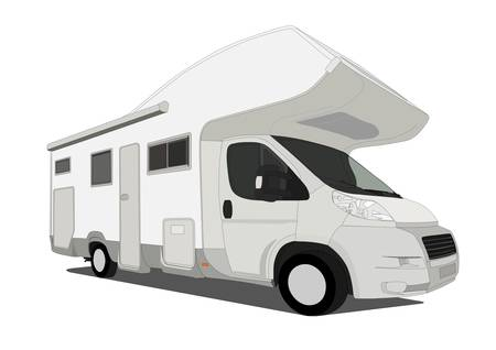 motor home: caravan car Illustration