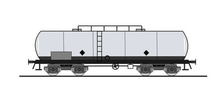 Cistern rail car Vector