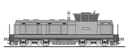 Carga locomotiva diesel Ilustração