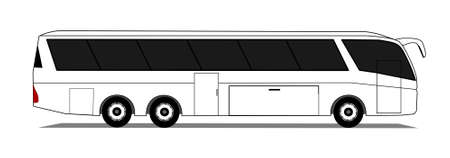 motor coach: Coach Illustration