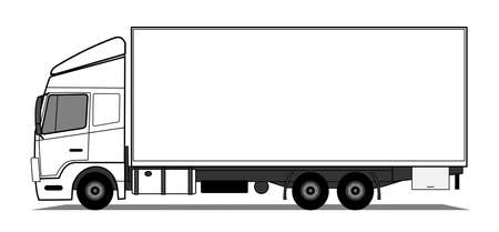 Ciężarówka Ilustracje wektorowe