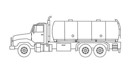 cisterna: Camión tanque pesado Vectores