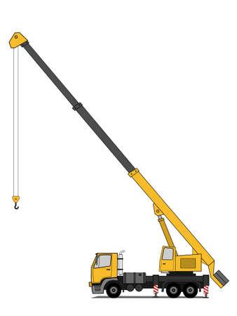 heavy construction: Crane truck