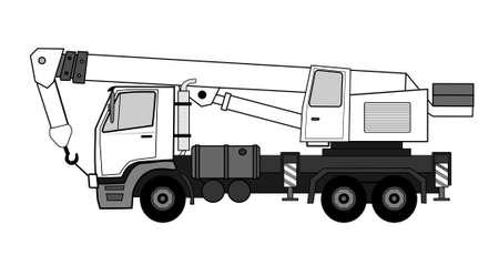 hydraulic lift: Crane truck