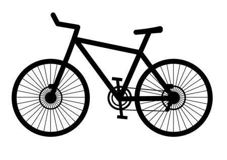bicycle silhouette: Bicicle Illustration