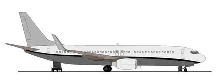 aviones pasajeros: Aeronave de pasajeros en rampa