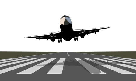 commercial airplane: Take off Illustration