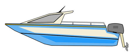 motor transport: Motorboat Illustration