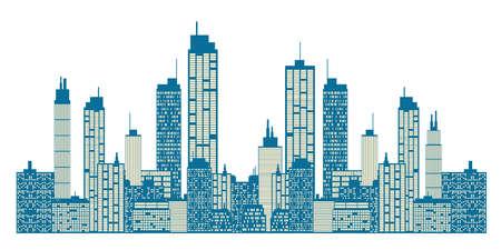Skyline da cidade Ilustração