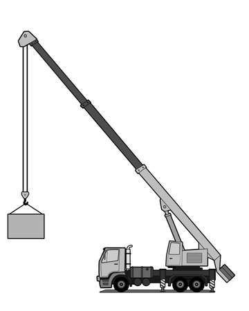 heavy lifting: Crane truck