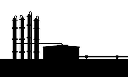 industria petroquimica: Refinería de petróleo Vectores