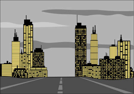 Road to the city Illustration
