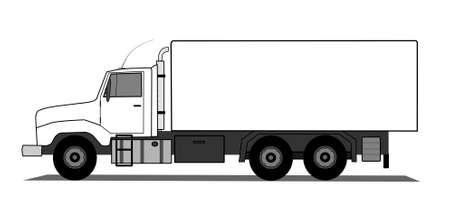 verhuis dozen: Amerikaanse stijl vrachtwagen
