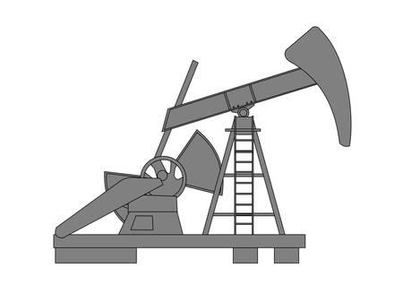petroleum: Bomba de aceite Vectores