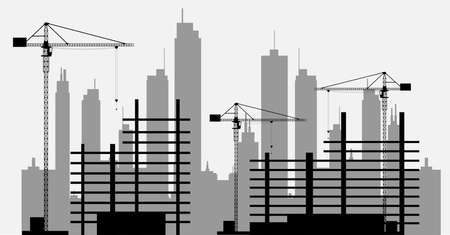 Cranes on construcitions