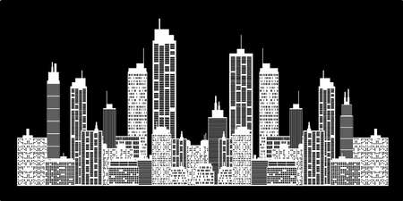 uptown: City skyline Illustration