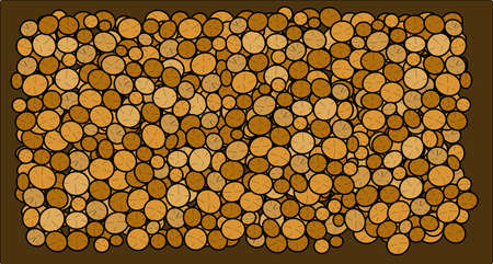 Logs background Vector