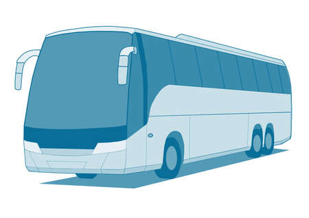 tourist bus: Coach bus Illustration