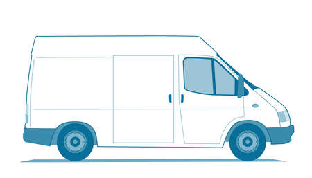 white van: Delivery car